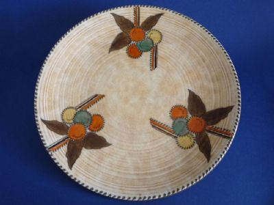 Charlotte Rhead Crown Ducal 'Circular Fruits' Wall Charger c1938 - Pattern 5982